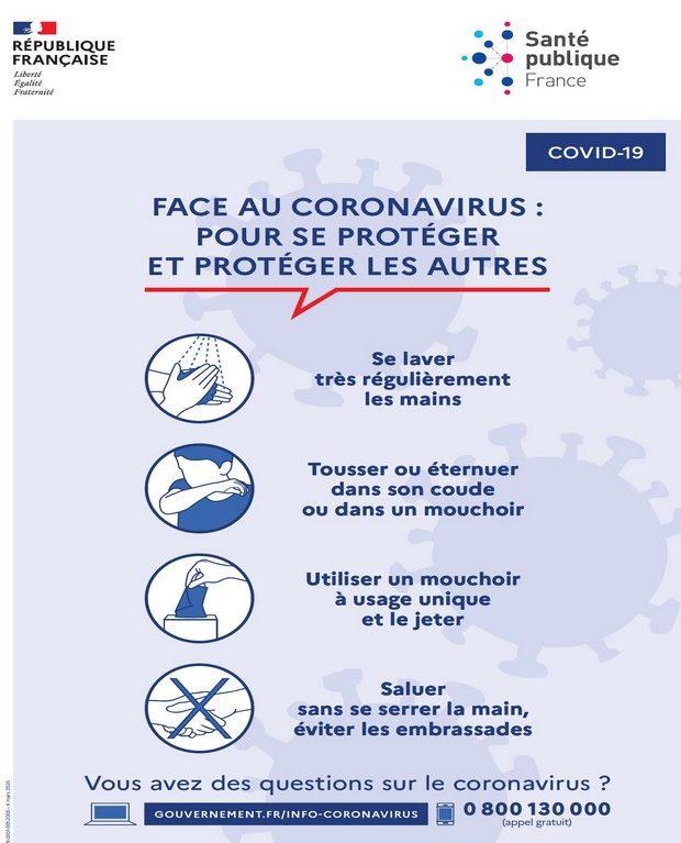 Protégeons nous du Coronavirus