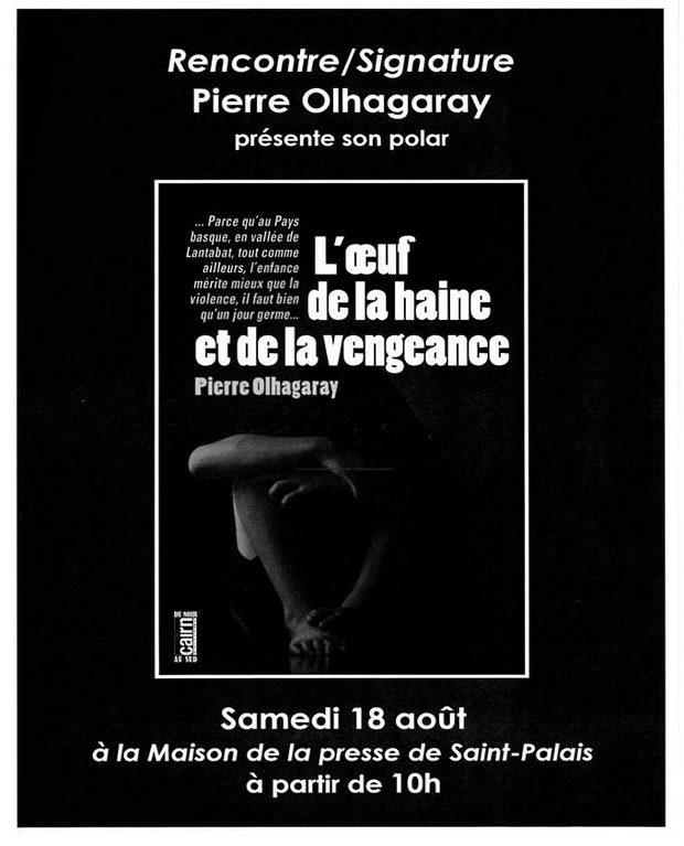 Rencontre /Signature avec Pierre OLHAGARAY