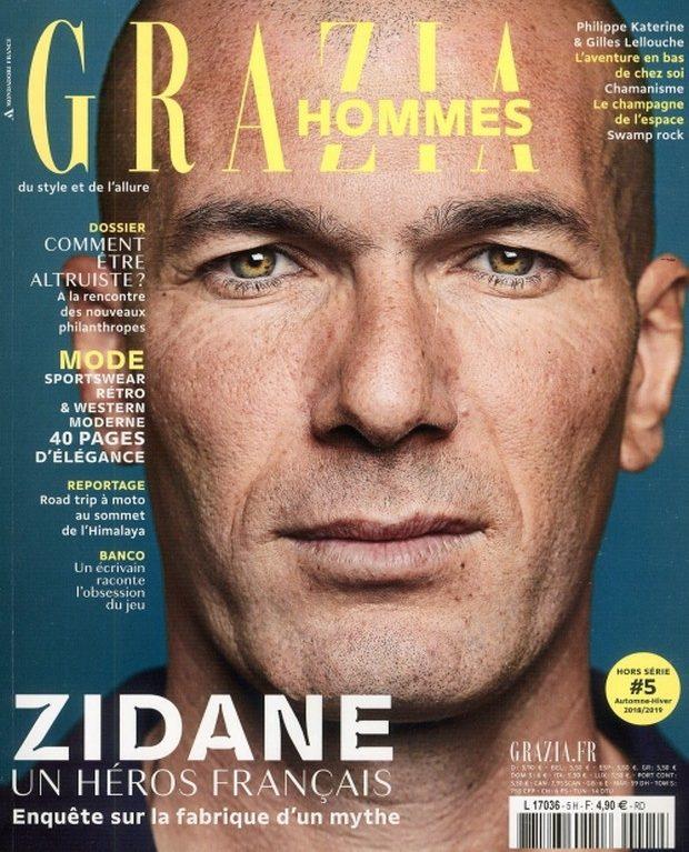 Grazia craque pour Zidane