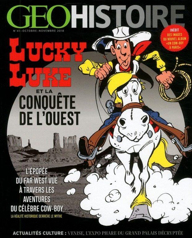 GEO Histoire traverse le Far West de Lucky Luke