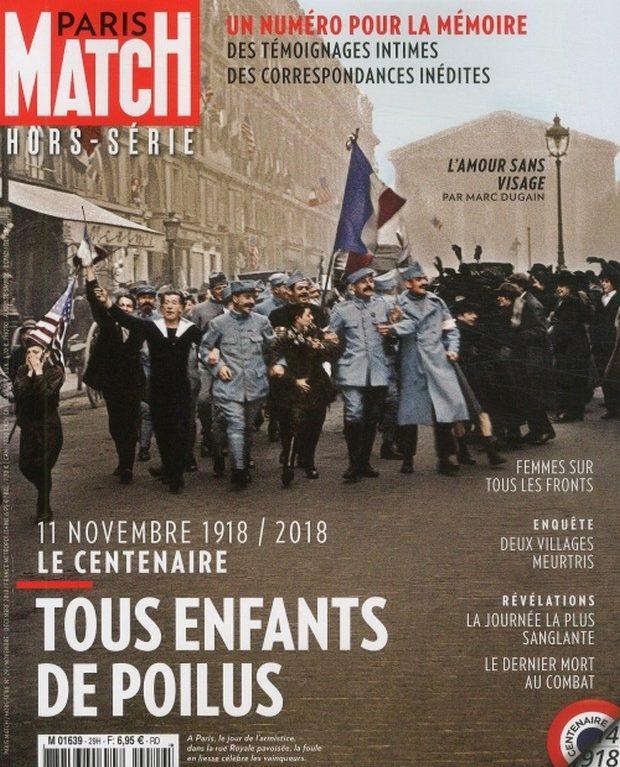 Paris Match rend hommage aux poilus