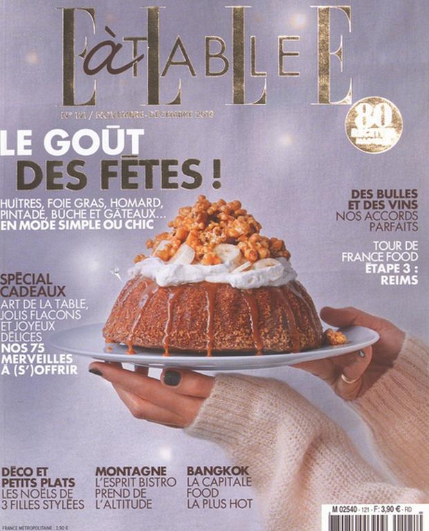 ELLE à table louche sur le foie gras