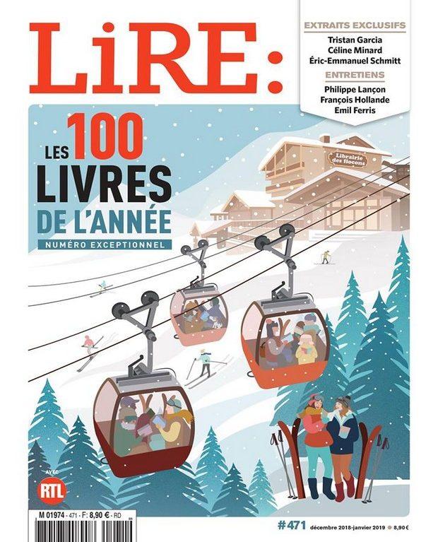 Un double numéro de LIRE avec les 100 livres de l'année