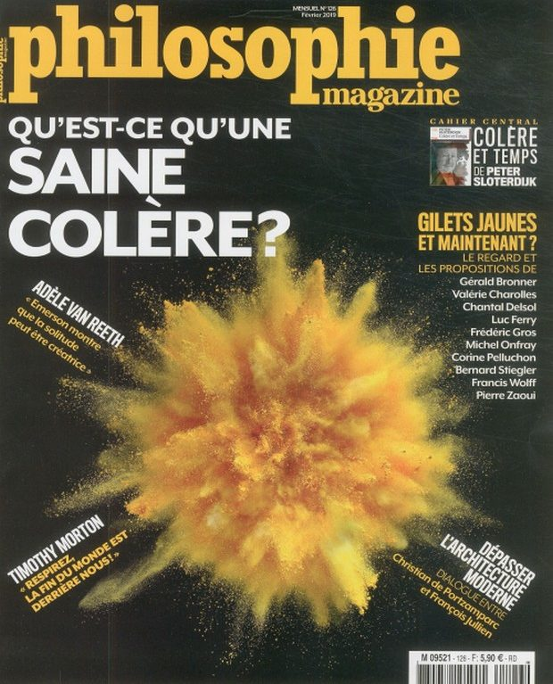 Philosophie Magazine se met au jaune pour gérer sa colère