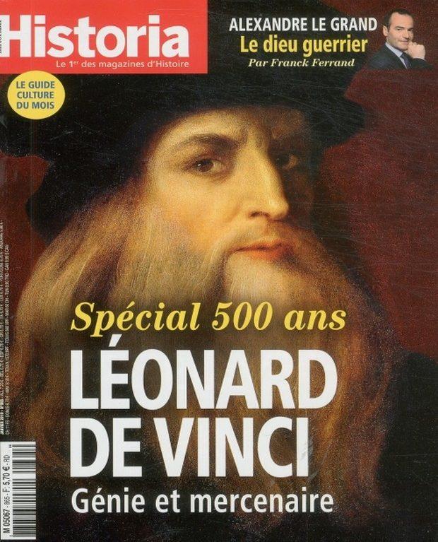 Historia s'intéresse à Léonard de Vinci